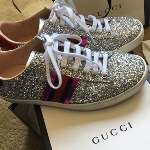 GUCCI cristal sneakers. Authentic, great shape!